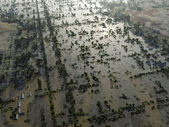 Flood, Aerial View — Stock Photo