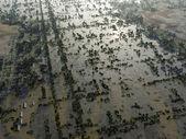 Flood, Aerial View — Stock Photo