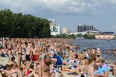 Crowded Kiev Beach — Stock Photo
