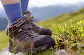 Tramping boots on a stone — Stockfoto