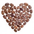 Heart made of coffee beans — Lizenzfreies Foto