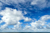 Clouds in the sky by the North Sea — Stock Photo