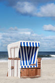 Beach basket on Sylt — Stock Photo
