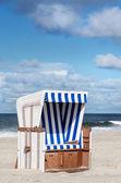 Beach basket on Sylt — Stock Photo