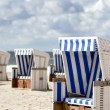 Stock Photo: Beach baskets on beach of Sylt