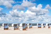 Beach baskets on the beach of Sylt — Stock Photo