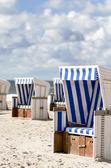 Beach baskets on the beach of Sylt — Stock Photo