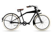 Black bicycle before white background — Stock Photo