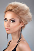 Portrait of beautiful blonde with with Short Hair — Foto Stock