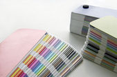 Pantone sample colors catalogues — Stock Photo