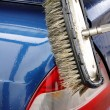 Washing Car with Scrub Brush — Stock Photo #9465702