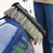 Washing Car with Scrub Brush — Stock Photo #9465703