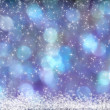 Beautiful Blue Purple Aqua Background Snow Stars — Stock Photo