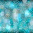Turquoise Aqua Abstract Starlight Bokeh Background — Stock Photo