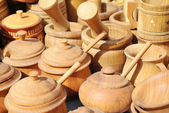 Traditional wooden ware — 图库照片