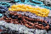 Kralen van halfedelstenenyarı değerli taşlar boncuk — Stok fotoğraf