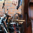 Playing on a contrabass — Stock Photo