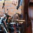 Stock Photo: Playing on contrabass