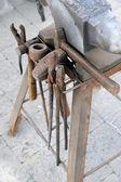 Ferramenta de trabalho do ferreiro — Foto Stock