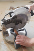 Power Miter Saw — Stock Photo