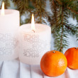 Two candles — Stockfoto #37335631