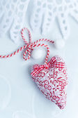 Two soft hearts — Stock Photo