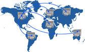 World network — Stock Vector