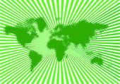 Verde del mundo — Vector de stock