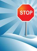 Stop vector — Stock Vector