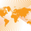 World orange vector - Stock Vector