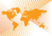 World orange vector — Stock Vector
