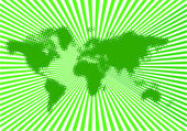World green vector — Vector de stock