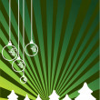 Royalty-Free Stock Vector Image: Christmas themes with bulbs and snowflakes