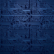 Vector blue circuit board background — Stock Vector