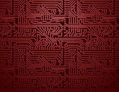 Vector red circuit board background — Stock Vector