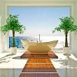 Modern interior of bathroom — Stockfoto #19437099