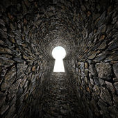 Stone keyhole — Stock Photo