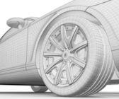 Car 3D model — Stock Photo