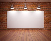 Banner on wall — Stock Photo