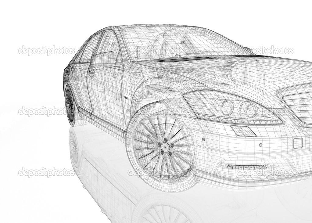 汽车3d 模型 — 图库照片#21824113