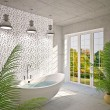 Modern interior of bathroom - Foto de Stock