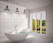 Interior moderno de banheiro — Fotografia Stock