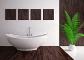 Modern interior of bathroom — Stock Photo