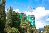 Construction in the resort area — Stock Photo