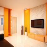 Interior Design. Modern living room — Stock Photo #30038053