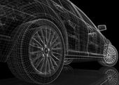 3d bilmodell — Stockfoto