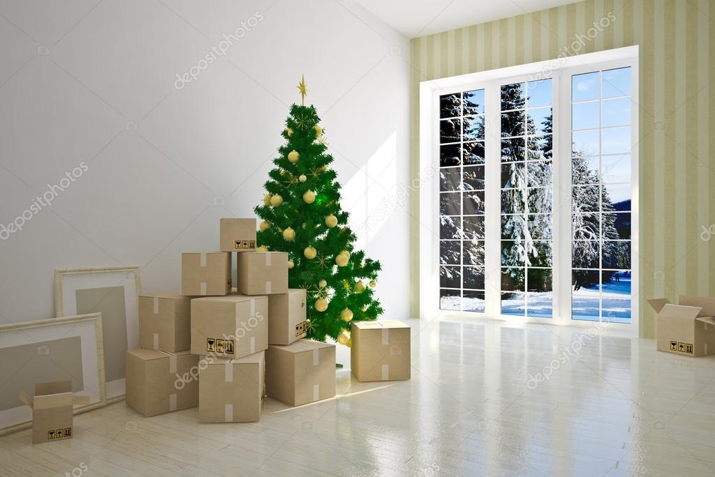 圣诞室内搬家纸箱 — 照片作者