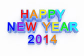 New year 2014 3d render — Stock Photo