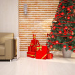 Stock Photo: Christmas interior details