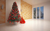 Christmas Empty interior — Foto de Stock